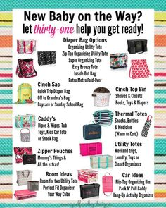 I love helping Moms-to-be get organized! www.mythirtyone.com/Fant
