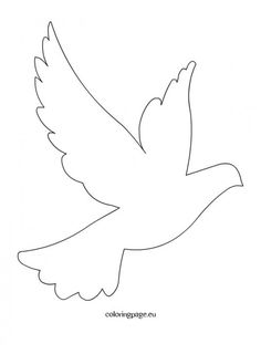 free printable dove template - Google Search