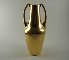 Vintage Art Deco Porcelain Selb Vase with Gold, 1920s Heinrich Bavaria. $25.00, via Etsy.