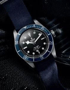 """5 Things To Know About TUDOR - see more in Ariel's article at The Watch Gallery - #3. Arguably The Best Case In The Price Range """"Tudor watch case components are produced alongside many of Rolex's parts and components... In fact, aside from the movements, most of the parts are manufactured using the same high standards..."""" like the looks of this blue Tudor Heritage Black Bay watch? see our hands-on article and pictures…"""