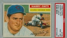 1956 Topps Baseball 179 Harry Chiti Cubs PSA 8 Grey Back Near-Mint to Mint by Topps. $45.00. This vintage card featuring Harry Chiti is # 179 from the 1956 Topps Baseball set