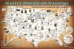 Native American Nations Map (Native and Common Names)