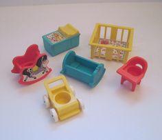 Vintage Fisher Price Nursery Furniture SET of 6. $21,00, via Etsy.