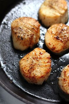 These are SO luxurious! Perfectly Seared Scallops - the only scallop recipe you'll ever ever ever need!