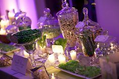 Purple candy table ideas, maybe Halloween