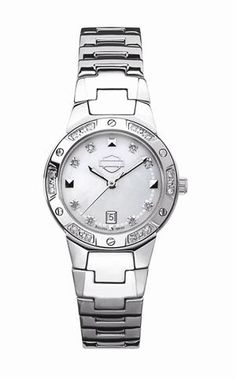 Womens Harley Mother of Pearl Diamond Watch by Bulova 76R103