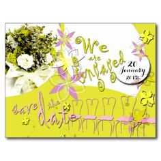 Sunny Days Wedding Save the date postcard -- personalize and order affordable wedding invitations