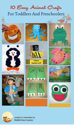 Easy Animal Crafts For Toddlers and Preschoolers {from Artsy Momma }