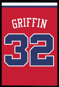 Blake Griffin Number 32 Los Angeles Clippers Jersey Art Print | Mancave Wall Art | NBA Memorabilia | Perfect Gift for Basketball Fan