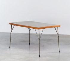 Industrial dinning table Wim Rietveld Gispen