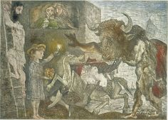 "PABLO PICASSO, ""La Minotauromachie (State VIII),"" 1935, Etching, scraper and burin on copper, 19 1/2 x 27 1/4 inches (49.8 x 69.3 cm) © 2006 Estate of Pablo Picasso / Artists Rights Society (ARS), New York"