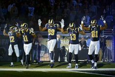 St . Louis Rams ... Hands Up ... Don't Shoot ...