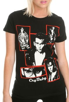 Johnny Depp Cry-Baby Frames Tee #Ripplejunction #TShirt #Casual
