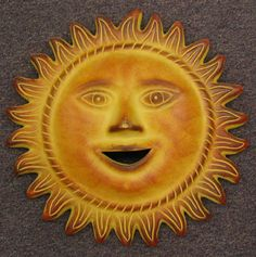 Mexican Pottery, Terra Cotta at Mexican Beauty - Fine Mexican Imports Sun Worship, Good Day Sunshine, Sun Tattoos, Sun Moon Stars, Sun Art, Moon Design, Winter Solstice, Archetypes, Wall Sculptures