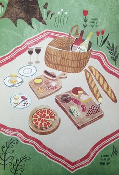 Illustrations for 'The Art of French Baking' by Sara Mulvanny