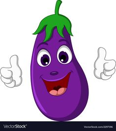 Cartoon eggplant giving thumbs up Royalty Free Vector Image - - Cartoon eggplant giving thumbs up Royalty Free Vector Image draws Cartoon eggplant giving thumbs up Royalty Free Vector Image Free Vector Images, Vector Free, Vegetable Cartoon, Fruit Nail Art, Funny Fruit, Fruit Cartoon, African Art Paintings, Puppet Crafts, Background Design Vector
