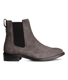 Check this out! PREMIUM QUALITY. Suede chelsea boots with elastic panels at sides and loop at back. Leather lining, leather insoles, and rubber soles. Heel height 1 1/4 in. - Visit hm.com to see more.