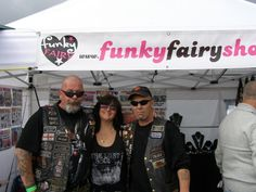 West Wales Bike Show 2011 with some biker customers losing street cred under my banner name lol