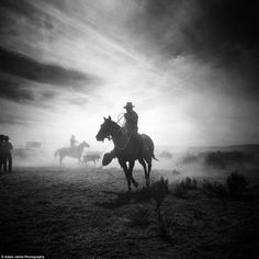 The Last Cowboy  Watch these stunning black & white pictures from Adam Jahiel. Breath-taking photographs have captured America's last cowboys, as the age-old profession, or art-form, all but dies out. For years, Jahiel has been photographing the cowboys of the Great Basin, perhaps one of the most inhospitable regions of the already rugged West. These people represent one of the last authentic American subcultures, one that is disappearing at a rapid rate.   © Adam Jahiel Photography