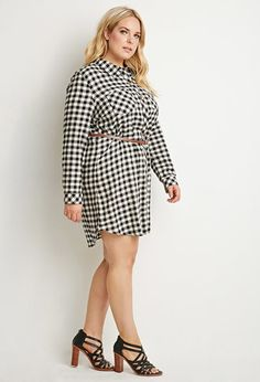 Belted Plaid Shirt Dress | Forever 21 PLUS | #f21plus