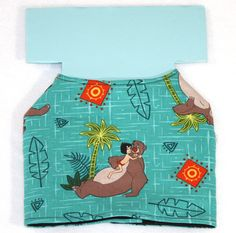 Dog Jacket - Jungle Book Fairy Tale - Cotton And Quilted Backing - Custom Order by PatienceWayShop on Etsy