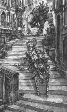 Fantasy Story, Dark Fantasy Art, Armor Concept, Concept Art, Scott Westerfeld, Steampunk, Tecno, Fantasy Inspiration, Sci Fi Art