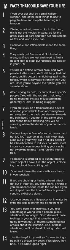 14 tips that could save your life