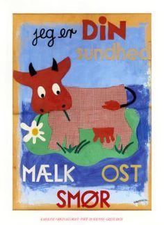 "Genoptryk af Grethe Richs herlige ""ikon-plakat"" fra ca. 70 x 95 cm Old Posters, Vintage Posters, Retro Advertising, Vintage Advertisements, Old Stamps, Oldies But Goodies, Old Ads, Scandinavian Design, Retro Vintage"