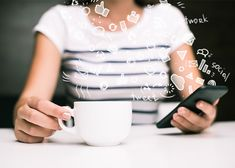 Discover over 100 million Stock Photos and Illustrations Stock Photos , photo store , video stock , Illustrations. Cropped view of woman with coffee cup using social media on smartphone Social Media Negative, Social Media Impact, Social Media Marketing, Digital Marketing, Dog Walking Business, Quickbooks Online, Personal And Professional Development, Science Articles, Photo Store