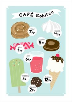 Café - barnposter Barn Cafe, Diy For Kids, Crafts For Kids, Cafe Posters, Kids Cafe, Kids Corner, Kidsroom, Kids And Parenting, Signs