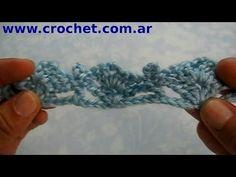Puntilla N° 15 en tejido crochet tutorial paso a paso. - YouTube
