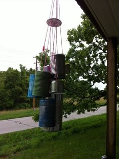 A recycled wind chime {a simple earth day craft}