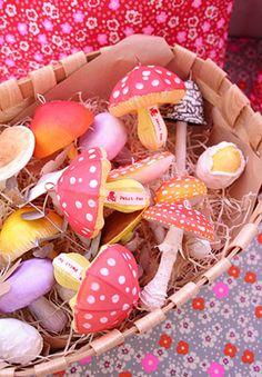 Little mushrooms.