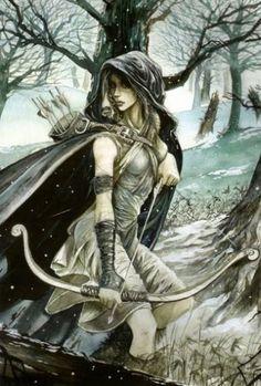 My Greek mythology scene -- Atremis, goddess of the hunt