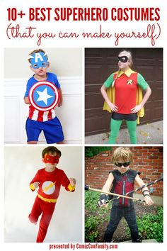 If you are looking for the Best Superhero Costumes for Kids & Teens – that you can make yourself – look no further! This post shares over 10 DIY costumes, such as Captain America, Thor, Batman, and more!