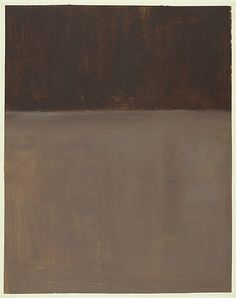 Untitled (Brown and Gray) Artist: Mark Rothko (American (born Russia), Dvinsk 1903–1970 New York) Date: 1969 Medium: Acrylic on paper Dimensions: 60 1/4 x 47 5/8in. (153 x 121cm)
