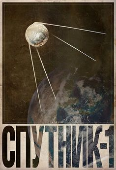 This isn't a real propaganda poster, but it's too lovely not to post. Sputnik by Justin Van Genderen. Framed Wall Art, Wall Art Prints, Russian Constructivism, Propaganda Art, Communist Propaganda, Soviet Art, Vintage Space, Space Race, Russian Art