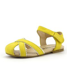 This Yellow Doily Closed-Toe Sandal by The Doll Maker is perfect! #zulilyfinds