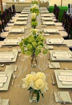 wedding settings table