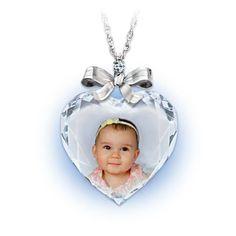"""Personalized """"Precious Jewel"""" Photo Pendant With Diamond"""