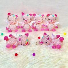 Amigurumi Pig Free Crochet Pattern Easy Crochet Baby Hat, Free Crochet, Crochet Tutorials, Crochet Patterns Amigurumi, Pigs, Free Pattern, Bunny, Dolls, Baby Dolls