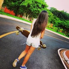 hipster hipsters girls girl model models longboard longboards longboarding long boards long boarding vans keds blue dark blue royal blue summer trees street grunge style fashion hipstaaa