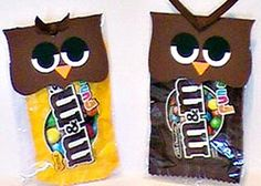 owls and m&ms... great combo