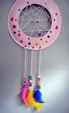 Camping Near Asheville Nc Product Diy Dream Catcher For Kids, Homemade Dream Catchers, Dream Catcher Craft, Old Wine Bottles, Recycled Wine Bottles, Wine Bottle Crafts, Clay Pot Crafts, Shell Crafts, Paper Crafts