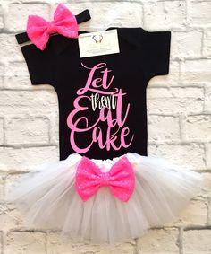 Baby Girl Clothes, Let Them Eat Cake Bodysuit, Let Them Eat Cake Onesie, Let Them Eat Cake Shirt, Birthday Shirts, Smash Cake Bodysuits, Smash Cake Onesies - BellaPiccoli
