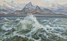 by Karl Erik Harr Scandinavian Art, Landscape Paintings, Mountains, Contemporary, Painters, Artist, Outdoor, Beautiful, Kunst