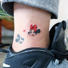 buddhism tattoo ideas - 50 Magical Disney Tattoos That Will Inspire You to Get Inked Weird Tattoos, Badass Tattoos, Mini Tattoos, Sexy Tattoos, Small Tattoos, Tatoos, Mini Y Mickey, Mickey E Minie, Minnie Mouse