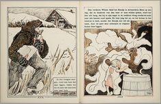 Het leelijke jonge eendje, pag. 26-7: naar het sprookje / van H. C. Andersen ; geteekend en gelithographeerd door T. van Hoytema,Amsterdam, C.M. van Gogh, 1893