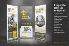 Corporate Roll-up or Banner by Paulnomade on Creative Market