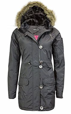 46a4d30971f Samantha s Ladies Military Fur Hooded Padded Quilted Womens Parka Jacket  Coat 8-24  Amazon.co.uk  Clothing. SamanthafashionZ · Winter Jackets